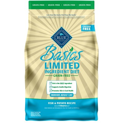 Blue Buffalo Basics Limited Ingredient Diet Indoor with Fish & Potato Adult Premium Dry Cat Food