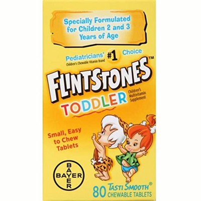 Flintstones Multivitamin Supplement Chewable Tablets TastiSmooth 80 Tablets