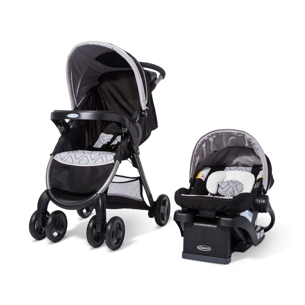 Graco FastAction Fold Click Connect Travel System - Asher