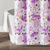"72""x72"" Pixie Fox Shower Curtain Purple/Pink - Lush Dcor - image 4 of 4"