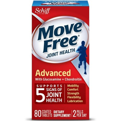 Move Free Advanced, Joint Health Supplement with Glucosamine and Chondroitin 80 ct