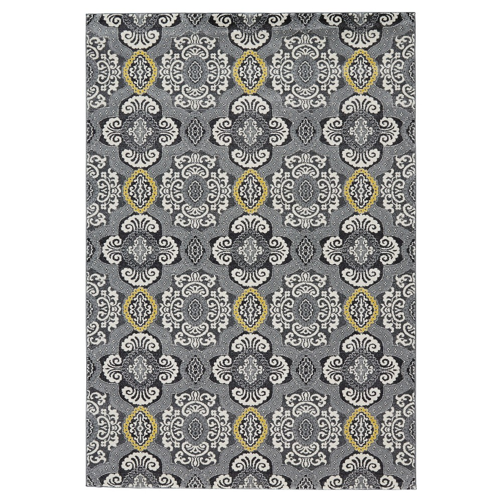 Geometric Woven Accent Rugs Gray Skies