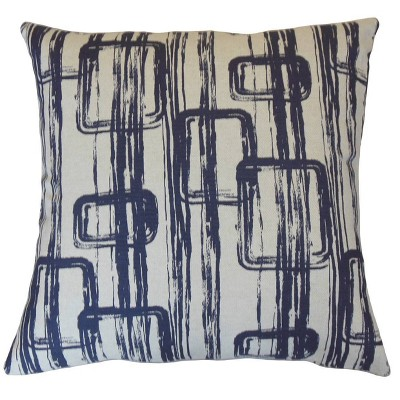 Penley Geometric Throw Pillow Steel - The Pillow Collection