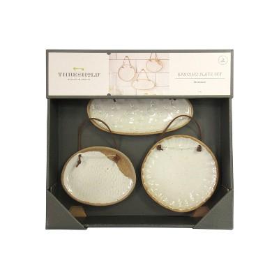 Set of 3 Stone Hanging Plate White - Threshold™