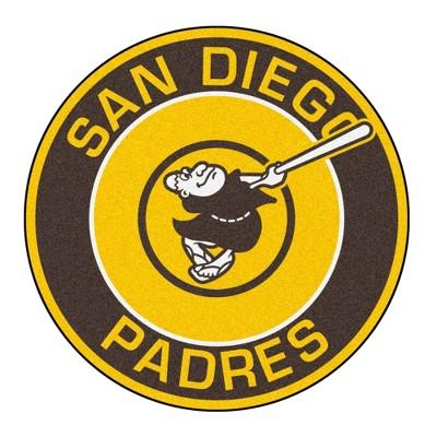 "MLB San Diego Padres 27""x27"" Swinging Friar Logo Roundel Rug"