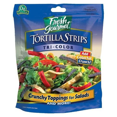 Fresh Gourmet Tri Colored Tortilla Strips 3.5oz - image 1 of 1