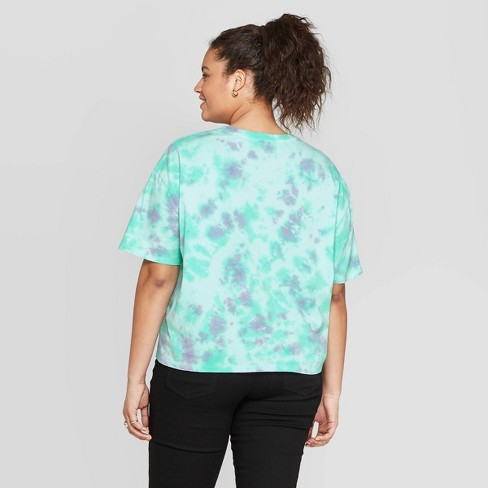 b86fc2a93e25 Women's Smokey Bear Plus Size Short Sleeve Graphic T-Shirt (Juniors') - Teal  : Target
