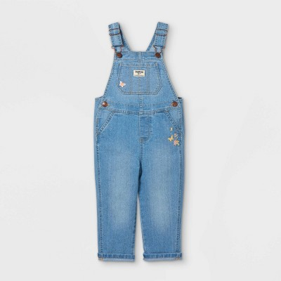 OshKosh B'gosh Toddler Girls' Butterfly Embroidered Overalls - Blue