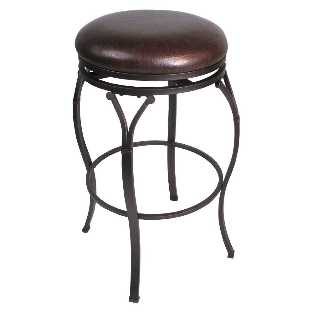 Hillsdale Furniture Lakeview Backless 30 Barstool - Brown