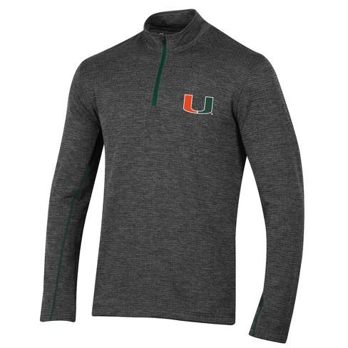 Miami Hurricanes Men's Long Sleeve Digital Textured 1/4 Zip Fleece - Gray - image 1 of 1