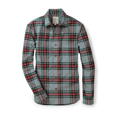 Hope & Henry Mens' Brushed Cotton Button Down Shirt