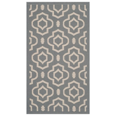 Courtyard Patio Rug Anthracite / Beige - Safavieh® - image 1 of 1