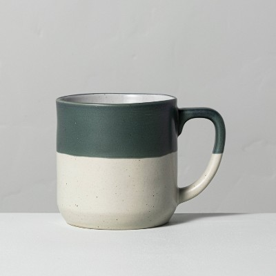 Dipped Stoneware Mug Dark Green - Hearth & Hand™ with Magnolia