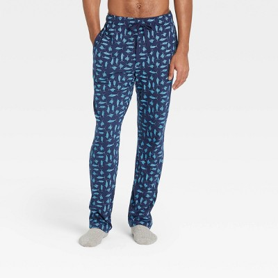 Men's Regular Fit Knit Pajama Pants - Goodfellow & Co™ Blue