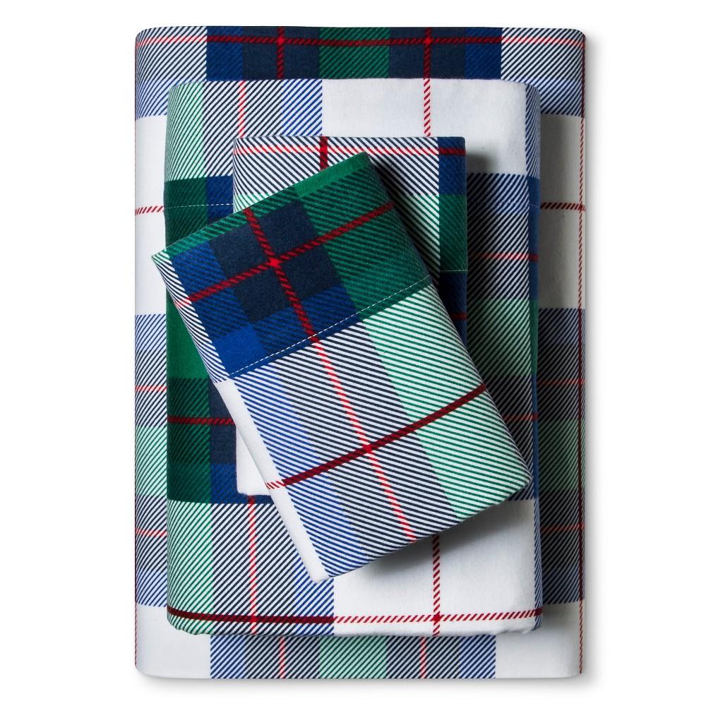 Flannel Sheet Set (King) Multi Plaid - Evergreen
