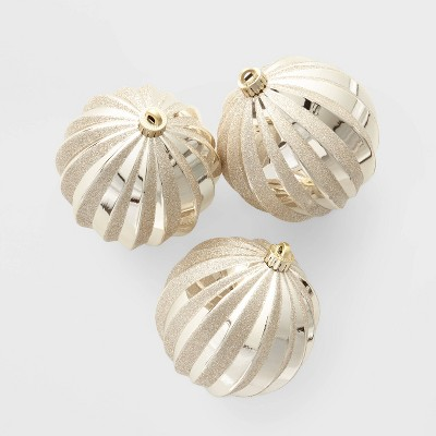 3ct Large Christmas Ornament Set Gold - Wondershop™