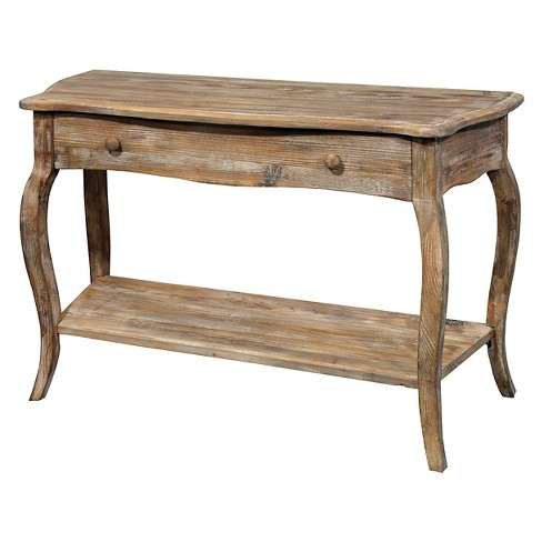 "42"" Console Table Driftwood Espresso - Alaterre - image 1 of 2"