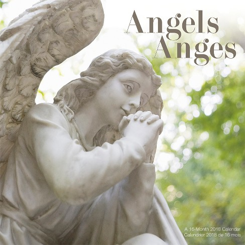 2018 Angels/Anges Bilingual (French) Wall Calendar - Trends International - image 1 of 4