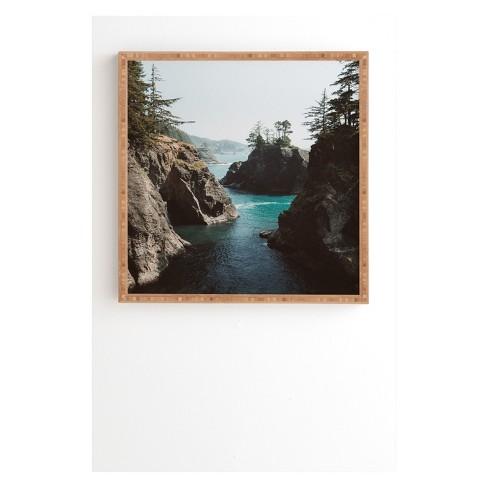 Garrett Lockh Pirates Cove Framed Wall Art Blue - society6 - image 1 of 4