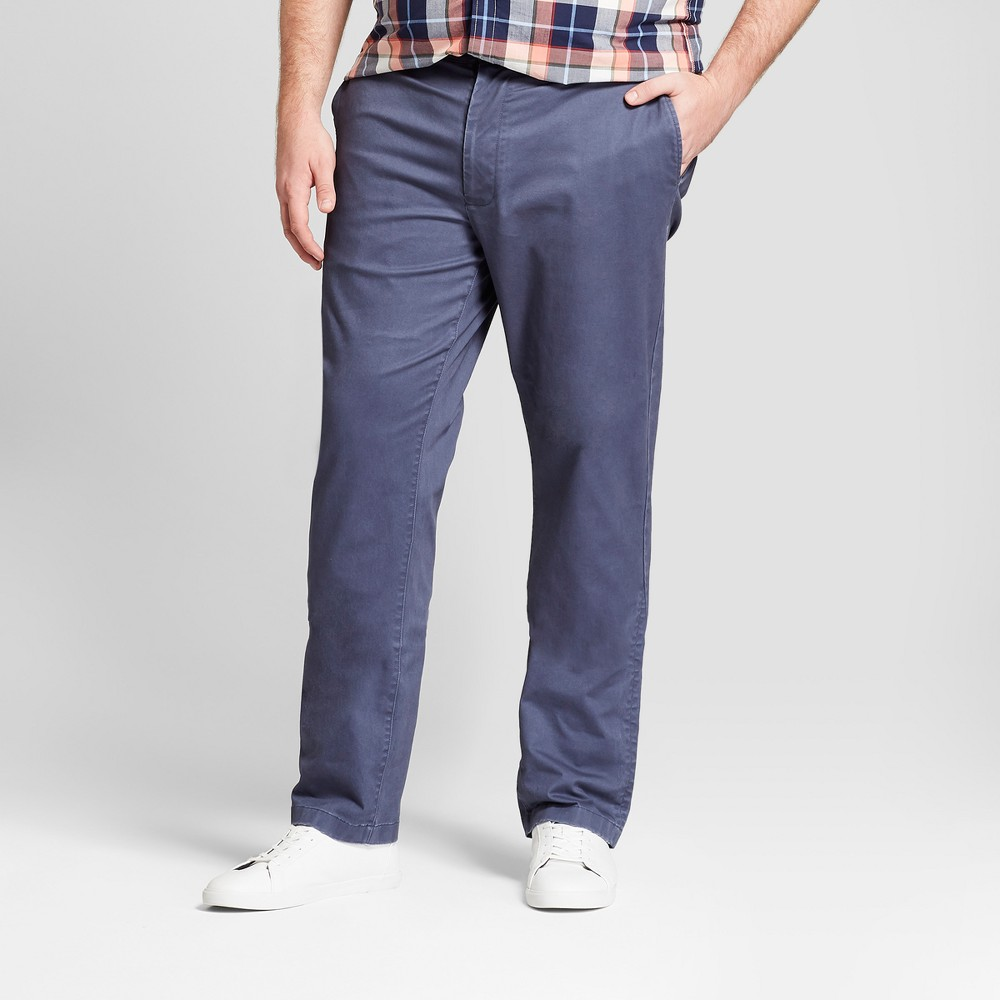 Men's Tall Athletic Fit Hennepin Chino Pants - Goodfellow & Co Navy 38X36, Blue