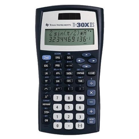 texas instruments ti30xiis scientific calculator black target