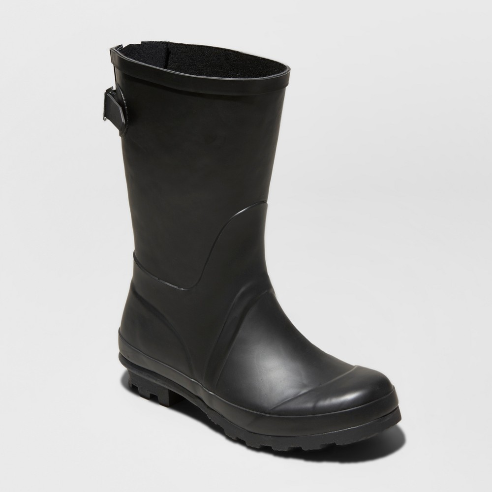 Women's Samantha Rain Boots - A New Day Black 5