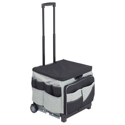 ECR4Kids Universal Rolling Cart and Organizer Bag - Black - Mobile Storage