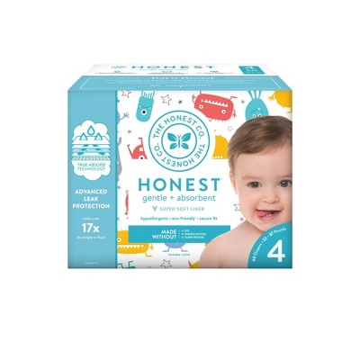 Honest Company Mini Monsters Club Pack Diapers - Size 4 (60ct)