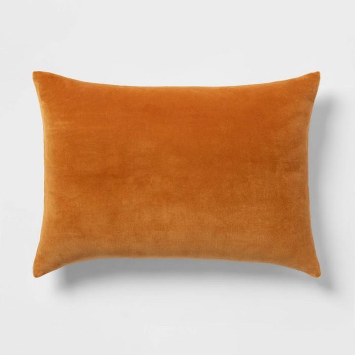 Velvet Pillow with Linen Reverse - Threshold™ - image 1 of 5