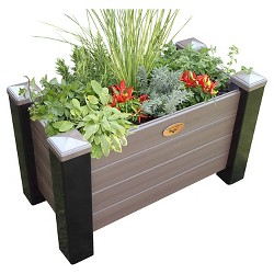 Maintenance Free Rectangular Planter Box - Walnut - Gronomics
