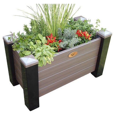 Maintenance Free Rectangular Planter Box - Walnut - Gronomics - image 1 of 3