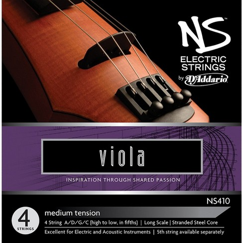 D'Addario NS410 NS Electric Viola Strings - image 1 of 1