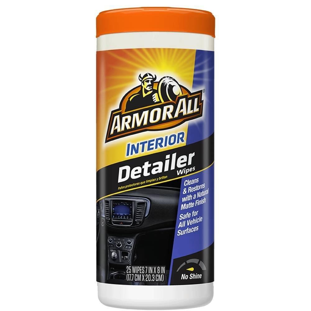 Armor All 25ct Interior Detailer Wipes Automotive Wash