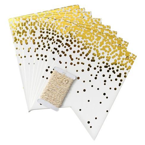 Confetti Flag Banner Gold - Spritz™ - image 1 of 1