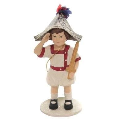 "Patriotic 4.5"" I Pledge Allegiance Boy Saturday Evevning Post  -  Decorative Figurines"