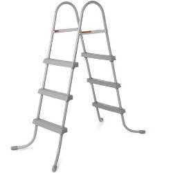 Bestway 58334E 36-Inch Steel Above Ground Swimming Pool Ladder No-Slip Steps