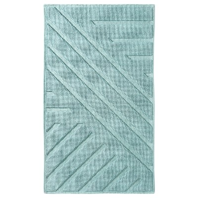 Geo Stripe Bath Mat (20 X34 )Gray Aqua - Project 62™ + Nate Berkus™