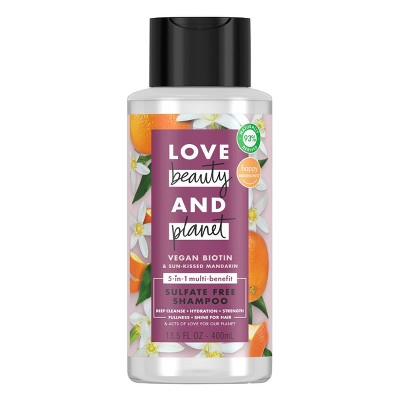 Love Beauty and Planet Vegan Biotin & Sun Kissed Mandarin Shampoo - 13.5 fl oz