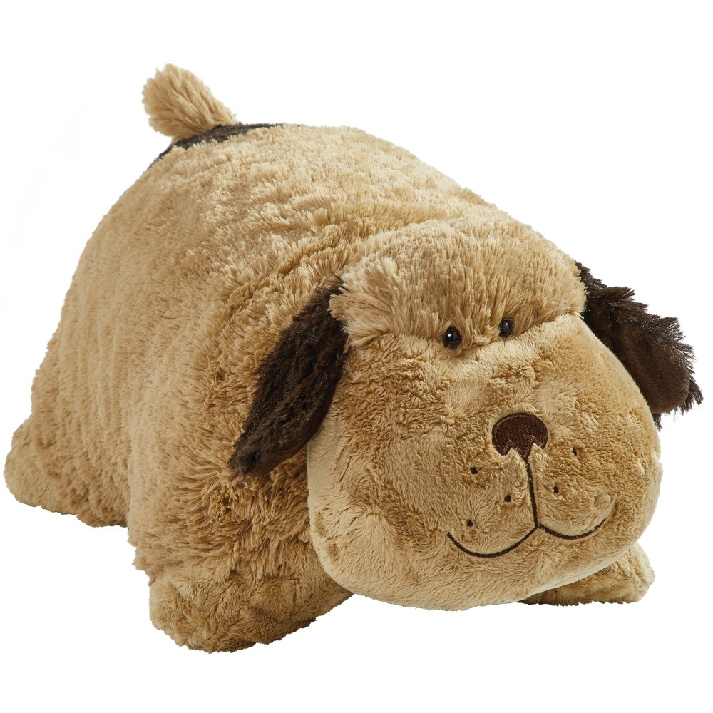 "Image of ""18"""" Signature Snuggly Puppy Throw Pillow Brown - Pillow Pets"""