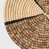 """15"""" Decorative Round Raffia Wall Plate Art Natural - All Across Africa - image 3 of 3"""