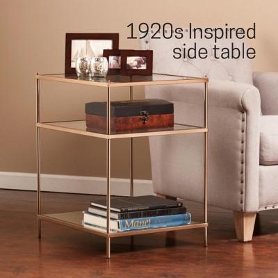 Benton Side Table Warm Gold - Aiden Lane : Target