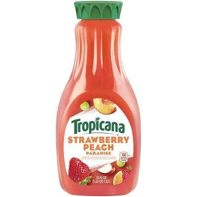 Tropicana Strawberry Peach Drink - 52 fl oz