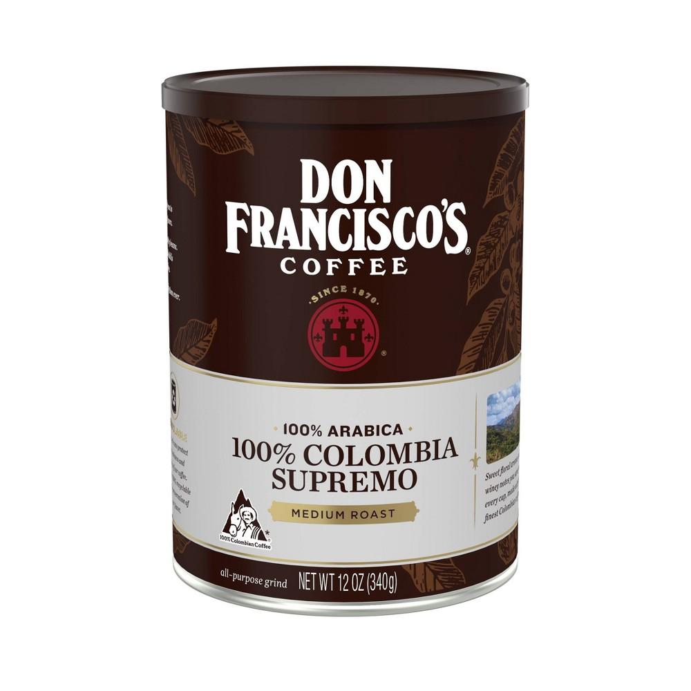 Don Francisco S 100 Colombia Supremo Medium Roast Ground Coffee 12oz