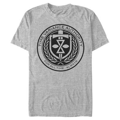 Men's Marvel Loki Time Variance Authority Logo T-Shirt