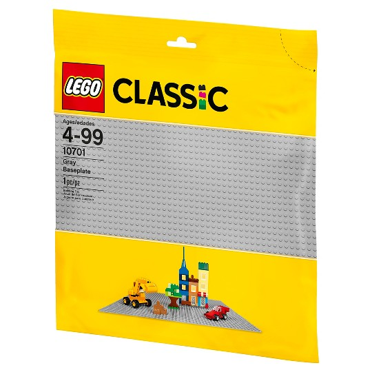 LEGO Classic Gray Baseplate 10701 image number null