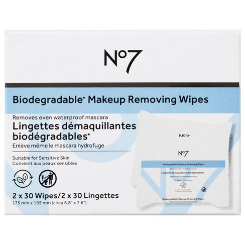 No7 Biodegradable Makeup Removing Wipes Dual Pack - 60ct - image 1 of 4