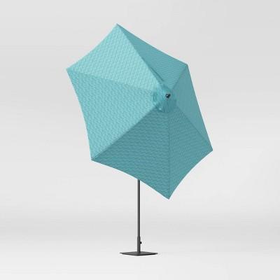 9' Sugar Chevron Round Patio Umbrella DuraSeason Fabric™ Aqua - Threshold™