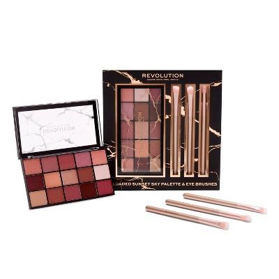 Makeup Revolution Reloaded Palette + Brush Giftset - 0.5oz - 4pc