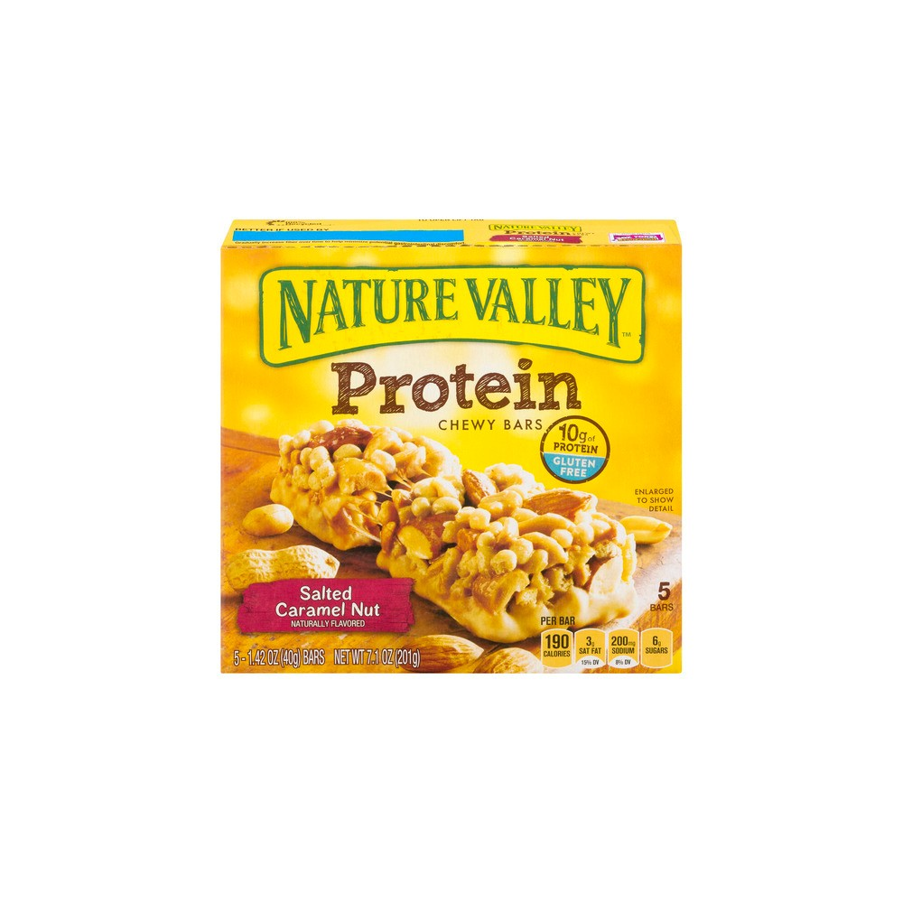 Nature Valley Salted Caramel Nut Protein Chewy Bars 5ct / 1.42oz
