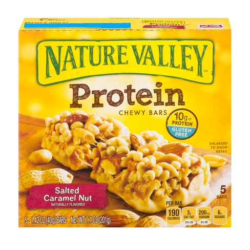 Nature Valley Salted Caramel Nut Protein Chewy Bars 5ct / 1.42oz - image 1 of 3